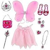 deAO 10 Accessoires de Princesse féerique incluant Une Paire de Chaussure, Un Tutu, des...
