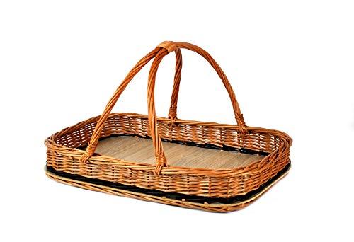 PM24 Tablett Weide Obst Brot Gebäck und viel mehr Weidentablett Rattankorb Weidenkorb K2-136