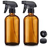 Glass Spray Bottle, Niuta 16 OZ Amber Glass...
