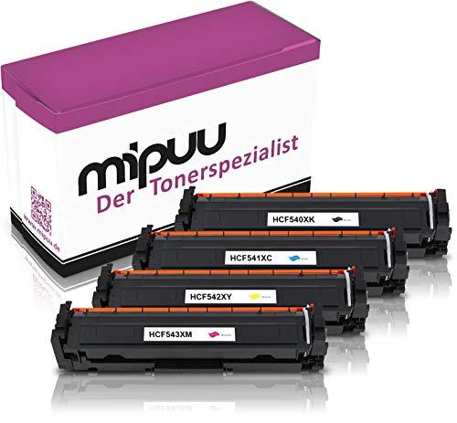 4 XXL Mipuu toner compatibel met HP CF540X CF541X CF542X CF543X 203X voor Color Laserjet Pro M281fdw MPF M281fdn M280nw M281fw M254dw M254dnw M254nw
