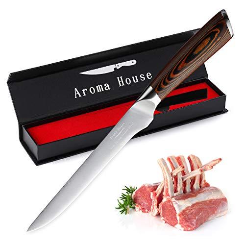 Aroma House Coltello da sfilettatura Coltello da Carne 15 cm Coltello da Chef Professionale Lama affilata Coltello da Cucina Co
