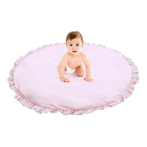 Tapis d'Éveil tapis de jeux pour bébé, Beatie Détachable Cotton Tapis Rampant de enfants, couleur unie ,diamètre 100 cm