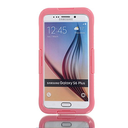 Waterproof Shockproof Diving Swimming Hard Phone Case Cover for Samsung Galaxy S6 Edge+ Plus/Note 5 (Pink)