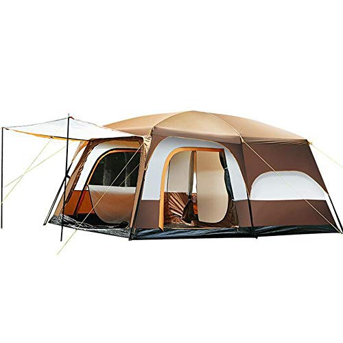 NBNBN Camping Tents for Family Gazebo Party Barbecue Pavilion Camping Tent Garden with Carry Bag and Quick Set-up (Color : Brown, Size : One Size)