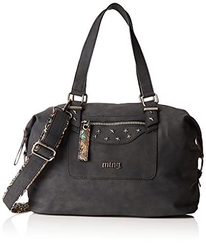 MTNG Bolso Cyan C52202 Negro Mujer, Hila Cuero/Pasley Multicolor, One Size