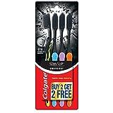 Colgate Slim Soft Charcoal Toothbrush 17x Slimmer Soft Tip Bristles (Buy 2 Get 2)