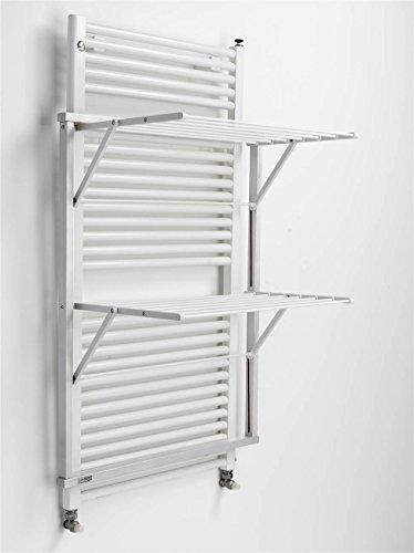 ARREDAMENTI ITALIA Wäscheständer für Heizkörper Klaus, Holz - klappbar - 10 mt Leine - Farbe: Weiß AR-It il Cuore del Legno
