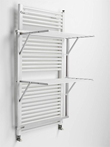 Arredamenti Italia Tendedero para radiador KLAUS, madera - Plegable - 10 m extensibles - Color blanco Ar-It il cuore del legno