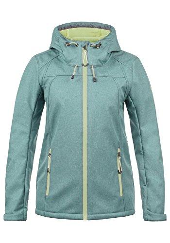 DESIRES Soley Damen Softshell Jacke Funktionsjacke Übergangsjacke mit Kapuze, Größe:L, Farbe:North ATL. (3324M)