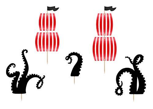 DekoHaus Cake-Topper Kuchendeko - Tortendekoration (Piraten)