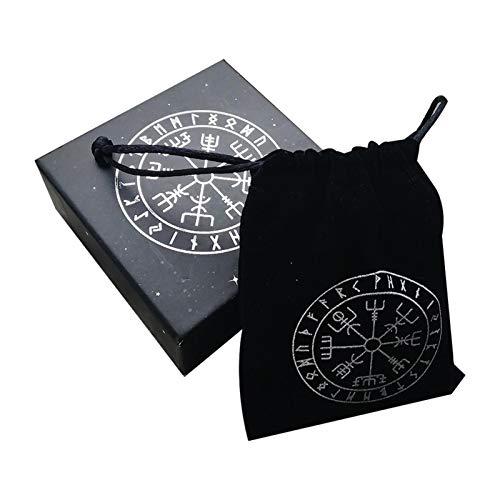 Peaches Stores Runenstein-Set, Holzschnitt-Runenset mit Aufbewahrungstasche für Fortune Telling Crystal Healing Reiki mit Tasche
