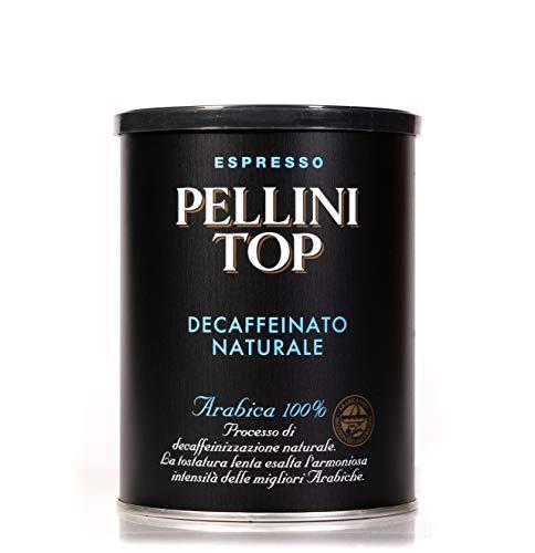 Pellini Caffè - Top Arabica 100% per Moka Decaffeinato Naturale, 1 Barattolo da 250 gr