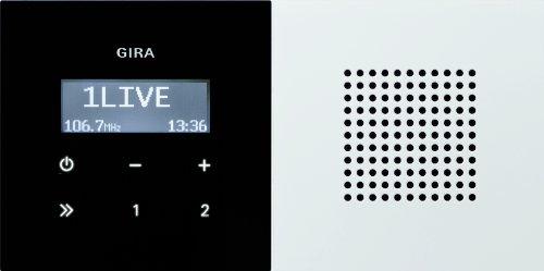 Gira 5222058 Unterputz Radio RDS Flächenschalter, reinweiß