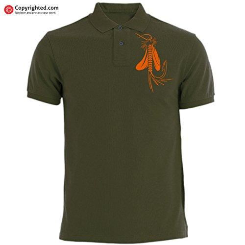 Forellen Barbel QBEC T-Shirt mit Aufschrift Life on The Fly zum Fliegenfischen Karpfen Vereinigten K/önigreich ! Vatertag Barsch Lachs idealer Geburtstag Zander Angeln