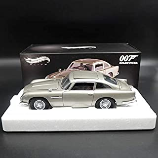 FidgetFidget Hotwheels Elite Aston Martin DB5 Goldfinger 007 James Bond BLY20 Diecast 1:18