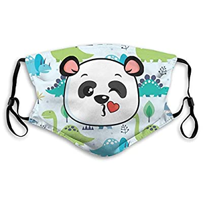 HOTBABYS Playful Pandas Reusable Activated Carbon Filter Face Covering with Replaceable Filter for Men Women S