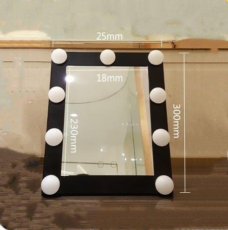 Mangeoo Con bombilla, square espejo cosmético, lámpara LED, espejo ...