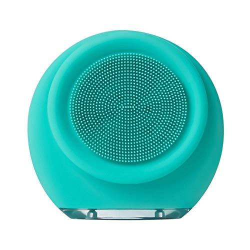 Sonic gezichtsreiniger draagbare siliconen gezichtsreinigingsborstel huidverzorging exfoliërende massage instrument schoonheid make-up gereedschap Blauw
