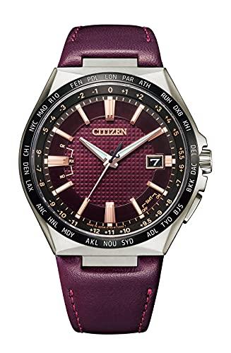 [Citizen] アテッサ 腕時計 エコ・ドライブ電波時計 ダイレクトフライト ACT Line 世界限定1,000本 CB0216-07W メンズ バーガンディ