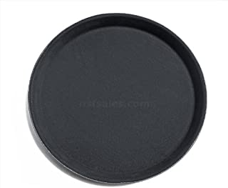 New Star Foodservice 24913 NSF Certified Plastic Non-Skid Tray, 11-Inch, Round, Black