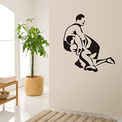 JXND New Wrestling Schlafzimmer Wohnzimmer Hintergrund Geschnitzte Wandaufkleber Wasserdicht Abnehmbare Aufkleber 57x91cm
