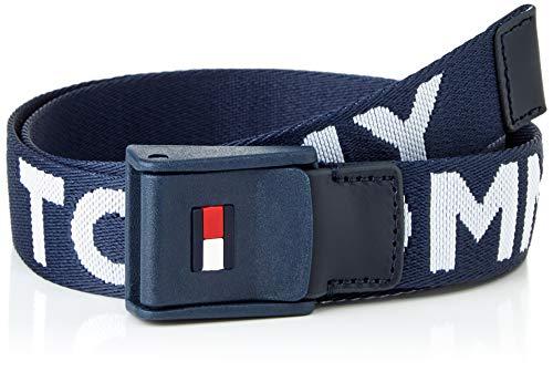 Tommy Hilfiger Webbing Belt Cinturn, Azul Marino Crepúsculo, S/M Unisex niños