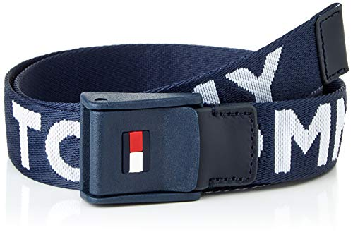Tommy Hilfiger Webbing Belt Cinturón, Azul Marino Crepúsculo, S/M Unisex niños