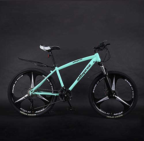 Huashao Mountain Bike Bicycle,26 Inch Mountain Bike, PVC and All Aluminum Pedals and Rubber Grip, Aluminum Alloy Frame, Double Disc Brake,(21/24/27/30 Speed),A,27