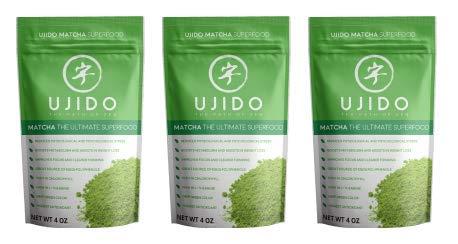 Ujido Japanese Matcha Green Tea Powder (4 oz) (Pack of 3)