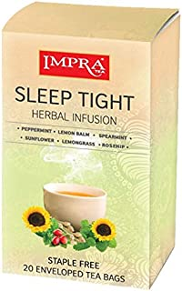Impra Herbal Sleep Tight Herbal Tea Bags(1. 3 g / 20 ct /26 g)