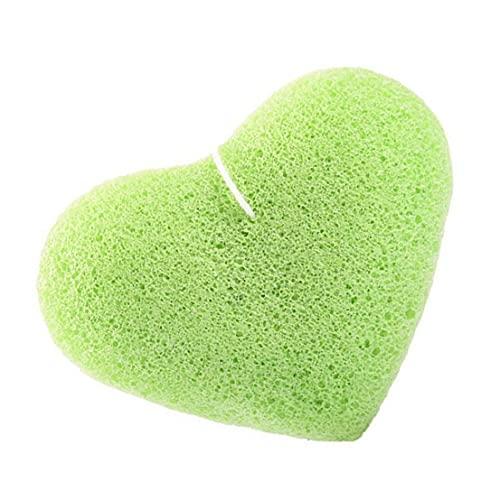 Hainice Eponge exfoliante faciale Konjac Sponge Naturelle Peau Nettoyage Profonde éponge Vert Vert