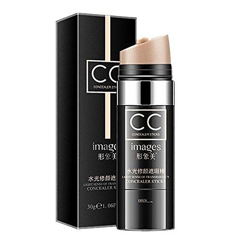 Face Concealer Stick, Spdoo Waterproof Whitening Moisturizing Air Cushion CC Cream Foundation Highlight Makeup (Natural)