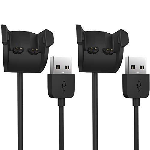 TUSITA Chargeur pour Garmin Vivosmart HR HR+,Approach X40 - Socle de câble de chargement USB 100cm - Accessoires pour tracker (2-Pack)