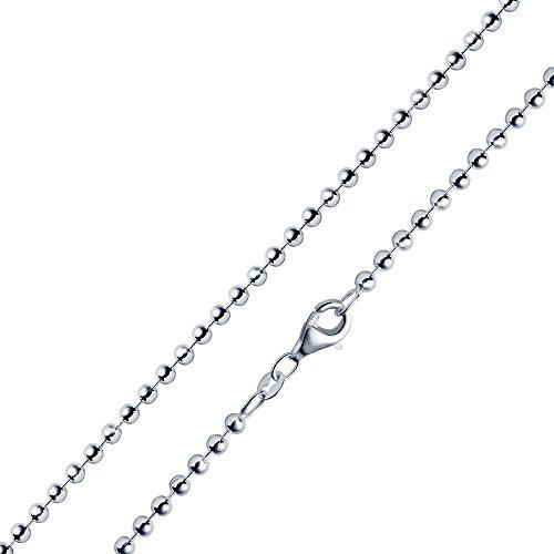 MATERIA 2,7mm Kugelkette Silber 925 hochglänzend - Halskette Damen Collier in 40-70cm mit Box #K10, Länge Halskette:50 cm