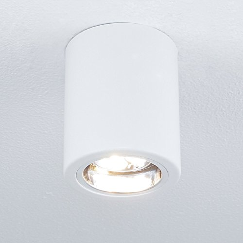 Elegante lámpara de techo blanca Bauhaus E27 hasta 60 W, 230 V, de metal, para pasillo, cocina o comedor
