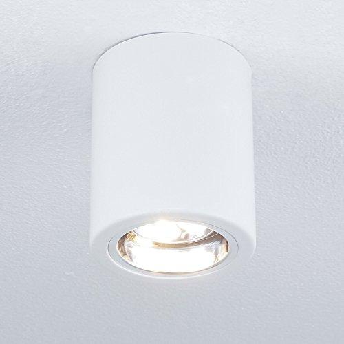 Elegante Deckenleuchte Weiß Bauhaus E27 bis zu 60 Watt 230V aus Metall Flur Küche Esszimmer
