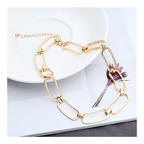 Korean Sweet Love Heart Necklace Statement Girlfriend Gift Cute Gold Silver Necklace Jewelry Collier Femme (Metal Color : Golden Color 2)
