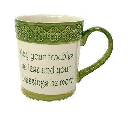 Celtic Classics Irish Blessing Relief Pattern Celtic Links Mug