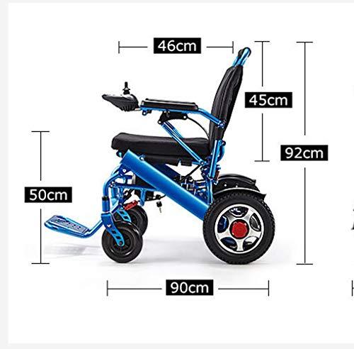 sZeao Leichte Aluminium-Klapp Elektro-Rollstuhl Bequem Und Nicht Holprig, Doppelt Schützen Sie Ihre Familie Mehr Ruhe