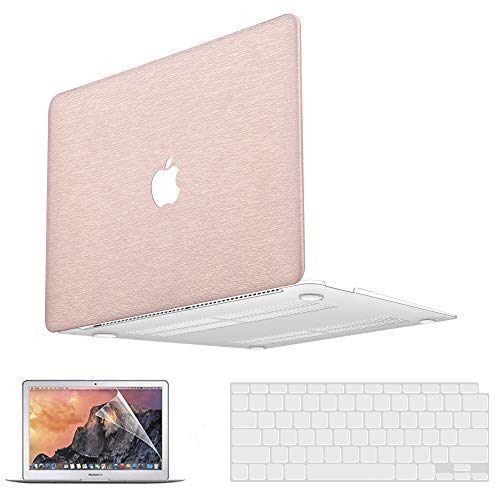 MacBook Pro 13 Inch Case 2020 2019 2018 2017 2016 Release A2338 M1 A2251 A2289 A2159 A1708 A1989 A1706 PU Leather Plastic Hard Shell Case & Keyboard Cover & Screen Protector for MacBook Pro 13.3 inch