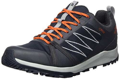 THE NORTH FACE Herren M Litewave Fastpack II GTX Trekking-& Wanderhalbschuhe, Brown (Ebony Grey/Scarlet Ibis C49), 44 EU
