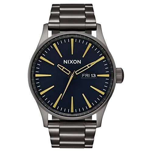 Nixon Sentry Reloj para Hombre Analógico de Cuarzo japonés con Brazalete de Acero Inoxidable A3562983
