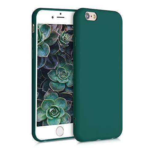 kwmobile Funda Compatible con Apple iPhone 6 / 6S - Funda Carcasa de TPU Silicona - Protector Trasero en Verde Cian