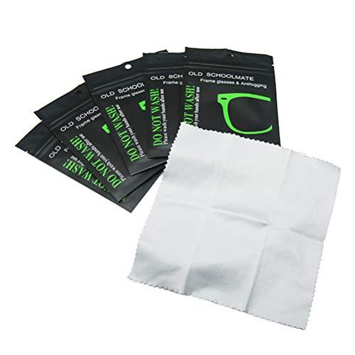Akemaio 5 Stück Antibeschlag-Tücher für Brillen Wiederverwendbares Wildleder-Defogger-Tuch für Brillen Schwimmbrillen-Fensterglas