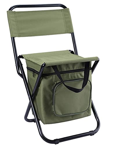 Portable Outdoor Folding Ice Bag Chair Portable Stool Solid Structure Refrigerated Storage Bag With Backrest Three in One Leisure Camping Fshing Chair Suitable for Beach Camping Home Outing