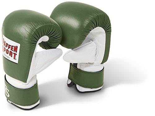 Paffen Sport PRO Boxsack-Handschuhe – Oliv/weiß – Größe: M/L