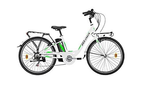 Bicicleta eléctrica modelo 2021 Atala E-Way 26 6 V 360 WHT/Green MT...