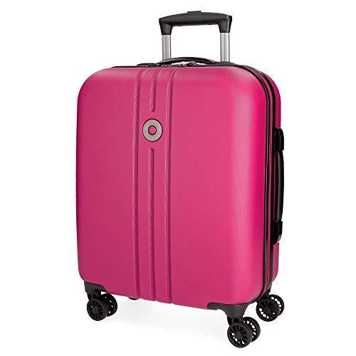 Movom Riga Maleta de cabina Rosa 40x55x20 cms Rígida ABS Cierre TSA 36L 3Kgs 4 Ruedas Dobles Equipaje de Mano