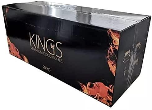 20 kg de carbón natural para shisha de coco de alta calidad, briquetas ideales para pipa de agua, como carbón para barbacoa, larga duración de combustión