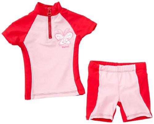Playshoes Unisex - Baby Babybekleidung/ Badebekleidung UV-Schutz nach Standard 801 und Oeko-Tex Standard 100 Bade-Set Schmetterling mit Windeleinsatz 460062, Gr. 74/80, Rosa (900 original)